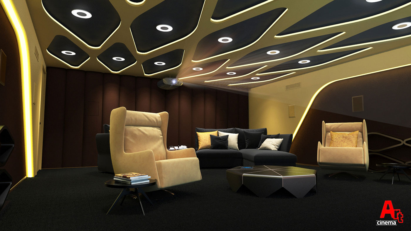 Эксклюзивный кинозал в частном доме