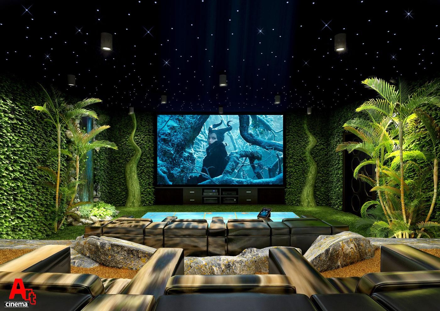 Загородный дом кинотеатр